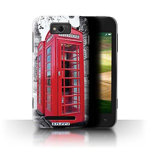 Stuff4® Hülle/Hülle für Xiaomi Mi 1S / Red Phone Box Muster/London England Kollektion (Red Mi 1s Handy)