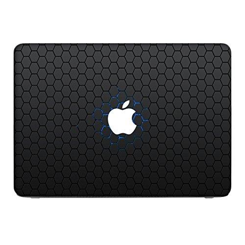 Zeug 10044, Skin-Aufkleber Folie Sticker Laptop Vinyl Designfolie Decal mit Ledernachbildung Laminat und Farbig Design für Apple MacBook Air 13