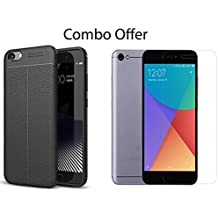 MI Redmi Y1 Lite Tempered Glass + Back Cover Hybrid (Combo Pack) by Sifty Collection