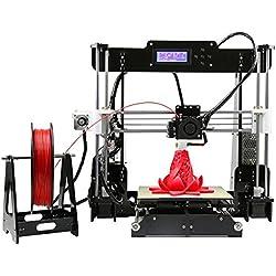 Anet A8 Impresora 3D Escritorio DIY Kit | Incluida Tarjeta SD 8Gb y 10 metros de Filamento PLA | Compatible con múltiples filamentos