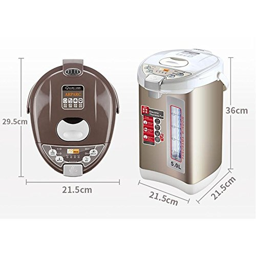 GPC Intelligent Electric Kettle Automatic Insulation 6 Kinds of Temperature Home Office 304 Stainless Steel Kettle 5L 1200W Electric Kettles,2