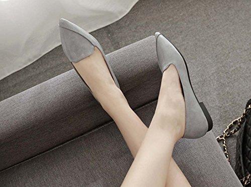 2018 Primavera Estate Scarpe Nuove Stile Retrò Britannico Scarpe A Punta Piatte Scarpe Da Strada Scarpe Casual Donna Gray