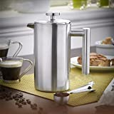 Generic 350ml Double Wall Stainless Steel Coffee Plunger French Press Tea Maker Handy Coffee Machine