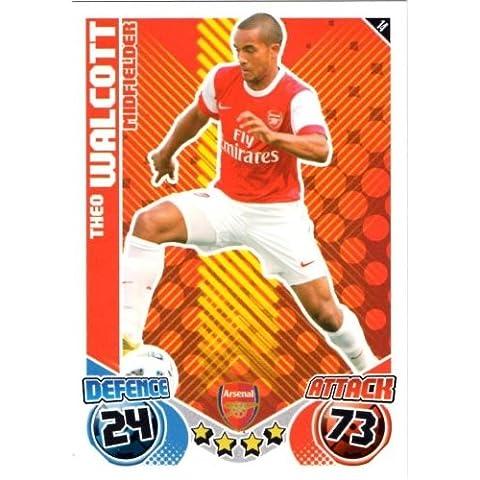Theo WALCOTT Arsenal Individuale Match Attax 2010/11 Trading Card