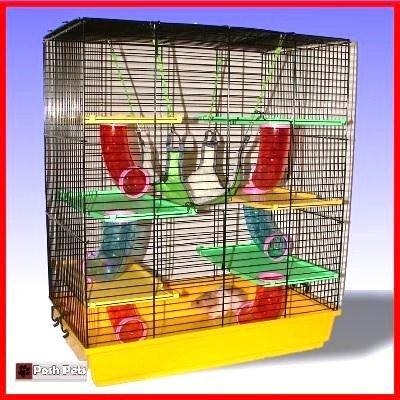 Bonzia Palace Cage pour hamster avec hamac Grand format