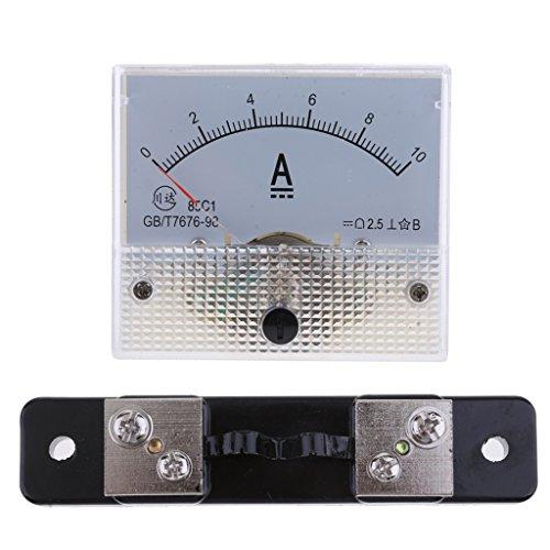 PETSOLA 0 10A DCAnalog Amp Meter Amperemeter Strom Panel Ampere Meter Shunt Widerstand 10 Gauge Amp