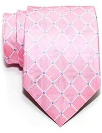 Retreez Dots and Check Pattern Woven Men's Tie Necktie - Various Colors