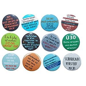 Button Set groß 50mm Auswahl ab 5 Stück aus 72 Motiven wählbar Ansteckbutton Motiv: Sprüche Lustig und witzig Part II