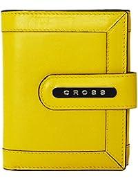 Cross Women's Genuine Leather Small Flap Wallet - Yellow