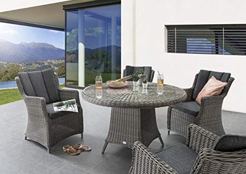 Gartenstuhl Luna mit Polster - 4
