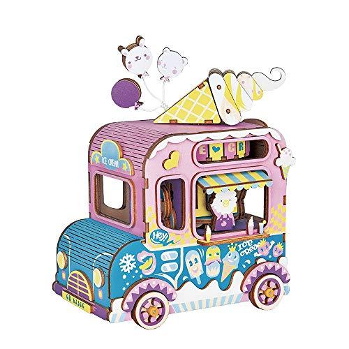 WFTD Spieluhr Kits-3D Holz Puzzle-DIY Holz Handwerk EIS Auto Modell Kits Home Dekorationen Kreative Geburtstag Jungen Und Mädchen (Modell Kits Holz-auto)