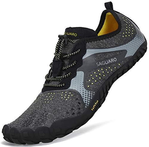 Barfuß-schuhe (Sommer Barfussschuhe Frauen Männer Traillaufschuhe Herren Rutschfest Barfuß Trekking Wander Schuhe Sport Outdoor Fitnessschuhe Damen)