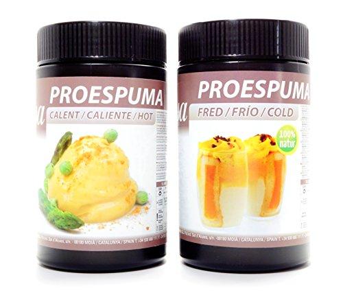 Sosa ProEspuma Set: 1x Pro Espuma kalt (cold für Kalte Schäume), 700g und 1x Pro Espuma Heiß (hot für heisse Espumas) 500g