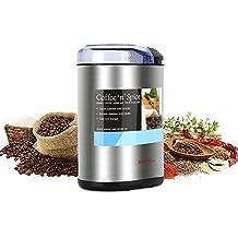 KYG Molinillo de café eléctrico 200W 70g acero inoxidable Cuchilla doble grano de cafe y granos nueces