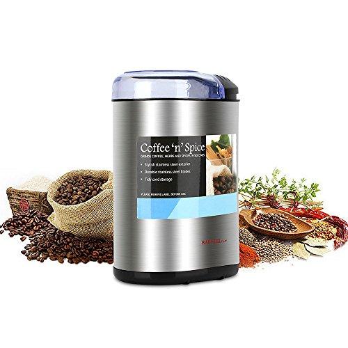 KYG Molinillo de café eléctrico 200W 70g acero...