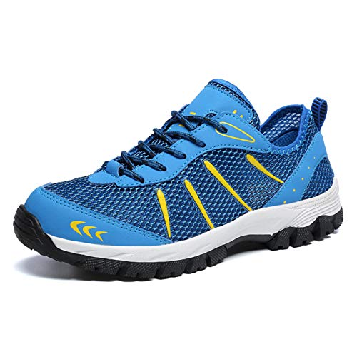 Summer Mens Mesh Shoe Fashion Spring Breathable Lace Up Trainers Sneakers Big Plus Size 39-48 Men Footwear Casual Shoes XX-112 Blue 10 -
