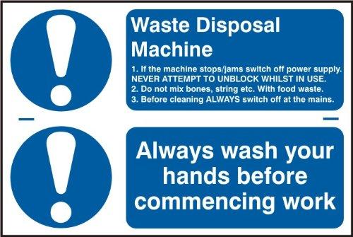 Spectrum Industrie 1.158,2cm Entsorgung immer Hände waschen vor Beginn der Arbeiten