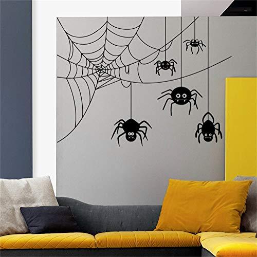 wandaufkleber küche Wandtattoos Halloween Spinne In Web Horror Attribute Urlaub Art Decor Kinder Panik Zimmer Schlafzimmer Fenster Home Aufkleber Wandbilder