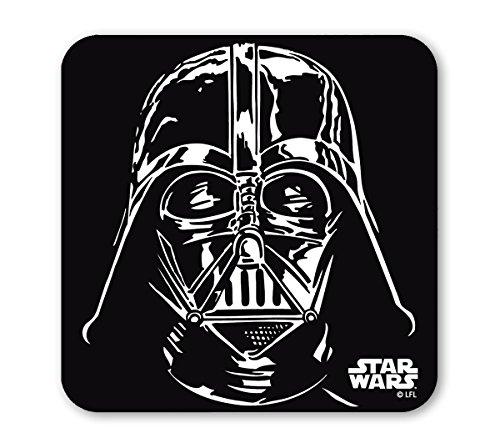 LOGOSHIRT - Guerre stellari Sottobicchiere sughero - Star Wars Coaster - Darth Vader - Portrait - colorato - Design originale concesso su licenza