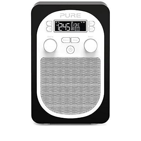 Pure Evoke D1 Radio (DAB/DAB+ Digital- und UKW-Radio mit Küchen-Timer) schwarz - Nero Radio Dab