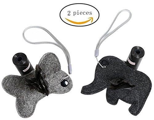 Morezi - Bolsas de Basura portátiles para Mascotas con Forma de Animal para Uso al Aire Libre, fácil de degradar, dispensador de Bolsas para Mascotas y Productos de Limpieza para Perros
