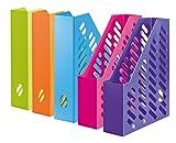 HAN Stehsammler KLASSIK 1601-20 in bunten Trendfarben – Zeitschriftensammler in klassischem Design zur geordneten Aufbewahrung von Dokumenten, Heften & Mappen bis Format A4–C4, 10 Stück