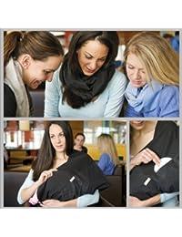 """L'écharpe-tube d'allaitement """"Dots black"""" avec petites poches pour coussinetsd'allaitement. L-XL"""
