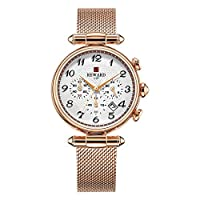 Sensecrol Ladies Watch Fashion Simple Waterproof Quartz Calendar Watch,Six-Pin Multi-Function Watch with Mesh Belt