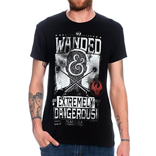 sen T-Shirt Extremely Dangerous MACUSA aus Fantastic Beasts von Elbenwald schwarz - M ()