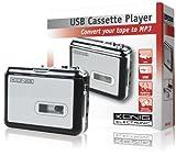 König Convertitore da Audiocassette ad MP3, Argento/Nero