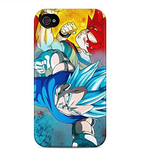 Dragon Ball Z Goku And Vegeta Saiyan God Mode Hard Plastic Snap On Back Case Cover For iPhone 4 / 4s Custodia