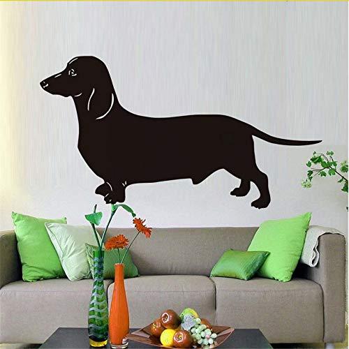 Wuyyii Beliebteste Dackel Hund Wandaufkleber Für Kinderzimmer Vinyl Abnehmbare Tier Tapete Aufkleber Dekoration Zubehör79X43 Cm