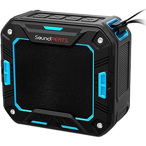 SoundPEATS Altavoz Bluetooth Portátil Impermeable, 5W de Potencia, Batería de 2000 mAh , Aporta Manos Libres para Ducha y Exterior, 10 Horas Larga Duración de La Batería--P2