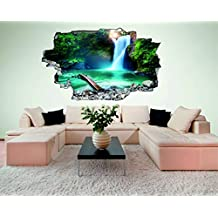 Superior Wasserfall Waterfall Natur 3D Look Wandtattoo 70 X 115 Cm Wanddurchbruch  Wandbild Sticker Aufkleber DesFoli ©