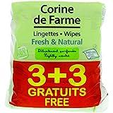 Corine de Farme 3 + 3 Lingettes Change Fresh/Natural Parfumées au Calendula Apaisant
