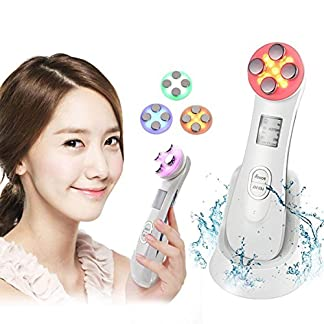 Dispositivo de Belleza Ultrasónico,reafirmante de la piel, anti-arrugas, el plomo en la nutrición, el blanqueamiento,Cuidado de la piel de Fotón ION Anti-aging