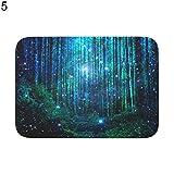 Gracorgzjs ⓖ ⓡ ⓐ Sky Laterne Galaxy Blume Teppich Rutschfest Bad Dusche Teppich Fußmatte Küche Badezimmer Decor 5#
