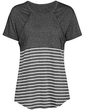 OHQ Camiseta De Mujeres Ropa Para La Lactancia De Maternidad De Raya Para Mujeres Las Mujeres Embarazadas Maternidad...