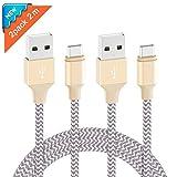 Ulinek USB C Kabel 2Pack 2m Typ C Ladekabel Nylon für Samsung Huawei LG HTC Sony