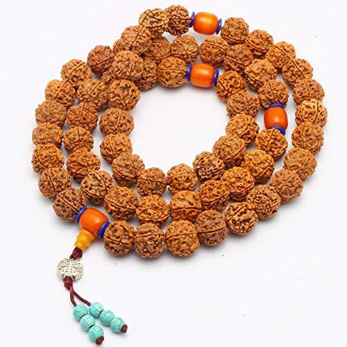 Zhiming Nepal 5 Kleine Gold Bodhi Perlen Armband 18mm männlich und weiblich - Nepal Armbänder Gold