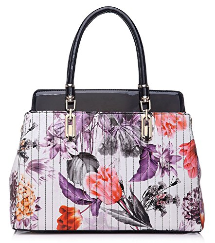 Big Handbag Shop ,  Damen Tornistertasche Black (KL114)