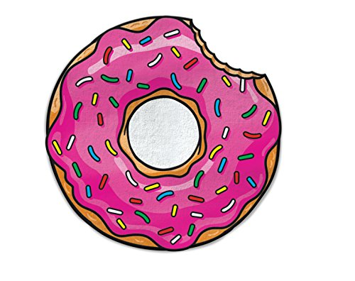 Big Mouth Donut Drap de plage, microfibre, multicolore, 152 x 152 x 1 cm