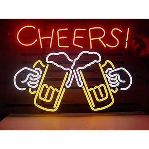 Cheers cerveza cristal luz de neón Sign casa cerveza Bar Pub recreación habitación sala de juegos Windows garaje pared cartel grande de tienda