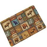 AMDXD Gummi Teppich Karikatur Tier Design Teppiche für Wohnzimmer Schlafzimmer Bunt 60x40CM