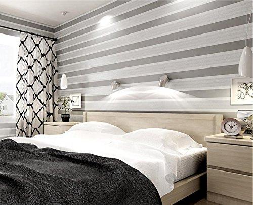 Horizontal, rayures simples brun bronzante moderne papier peint non tissé fond d'écran de la télévision de salon chambre type 3