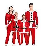AIDEAONE Natale Pigiama Natalizio di Famiglia Biancheria da Notte Set da Pigiama per papà