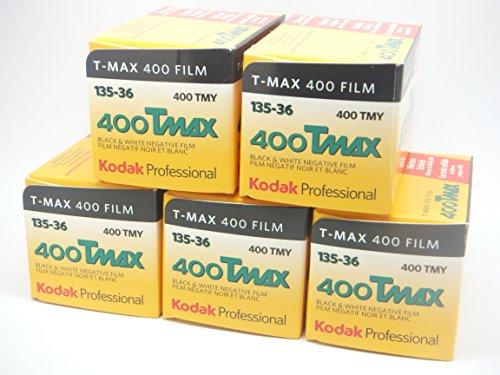 Kodak Tmax 400 Schwarzweißfilm, 36exp, 5er-Pack