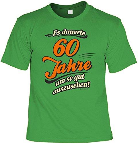 Fun T-Shirt - Geburtstagsgeschenk - Es dauerte 60 Jahre um so gut auszusehen! - Im SET mit Mini T-Shirt - Hellgrün Hellgrün