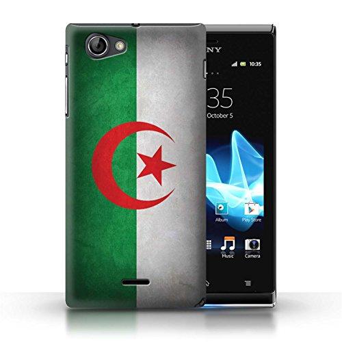 Coque en plastique pour Sony Xperia J (ST26i) Collection Drapeau - Portugal/portugais Algérie
