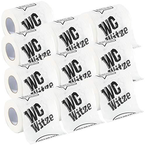 infactory Lustiges Toilettenpapier: Toilettenpapier Witze, 10 Rollen (WC Papier lustig)